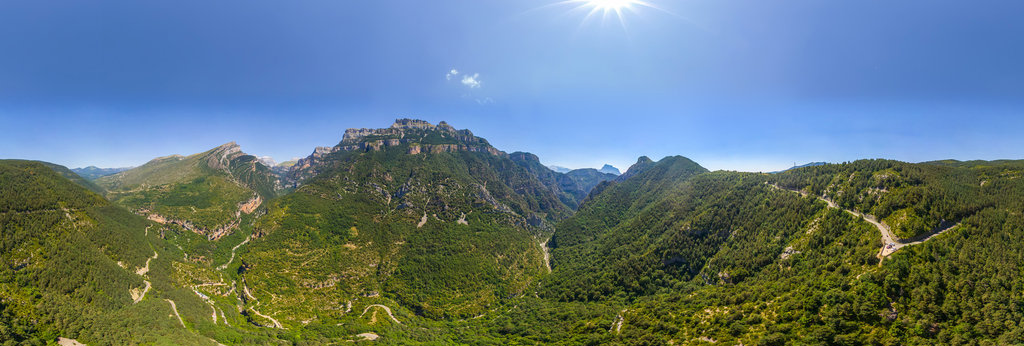 Añisclo Canyon, Ordessa National Park, Aragon, Spain 360
