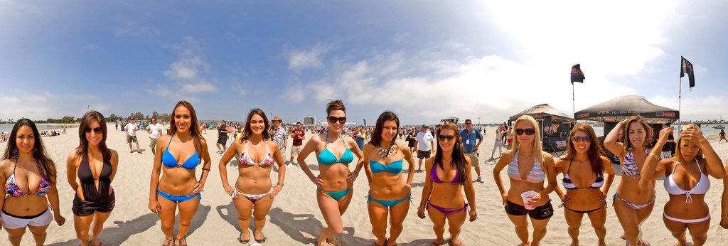 Have beach bikini contests