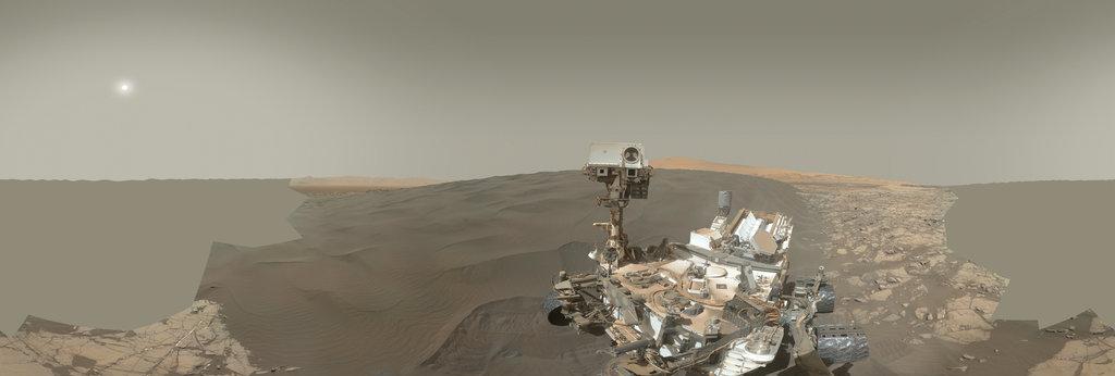 Mars Panorama - Curiosity rover: Martian solar day 1228 360 Panorama | 360Cities