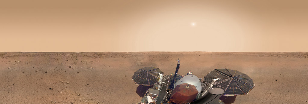Mars Panorama - InSight lander: Martian solar day 10 360 Panorama   360Cities