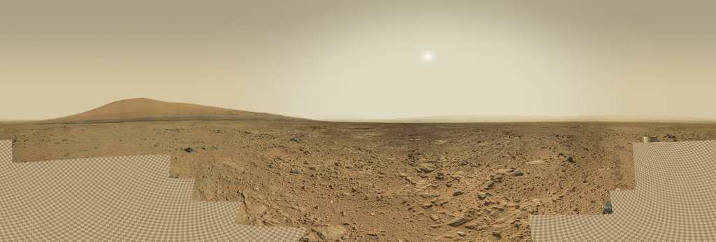 Mars Panorama - Curiosity rover: Martian solar day 437 360 Panorama   360Cities