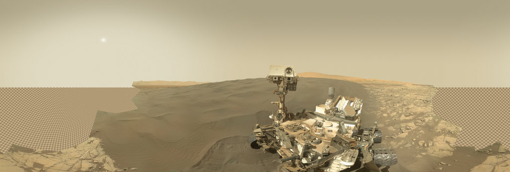 Mars Panorama - Curiosity rover: Martian solar day 1228 360 Panorama | 360Cities