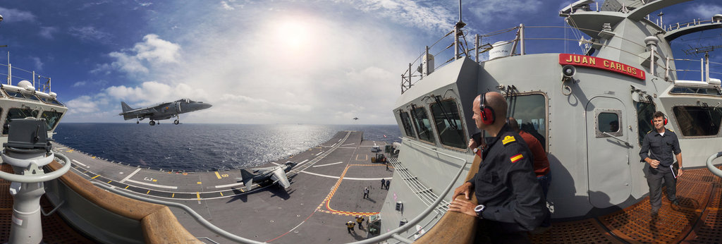 "Onboard The Spanish Ship Aircraft Carrier ""Juan Carlos I ...Spanish Aircraft Carrier Juan Carlos"