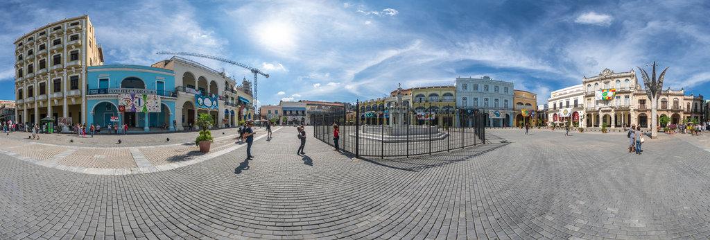 Plaza Vieja , Havanna 360 Panorama