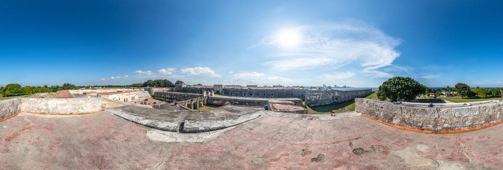 Castillo de San Carlos de la Cabana , Havanna 360 Panorama