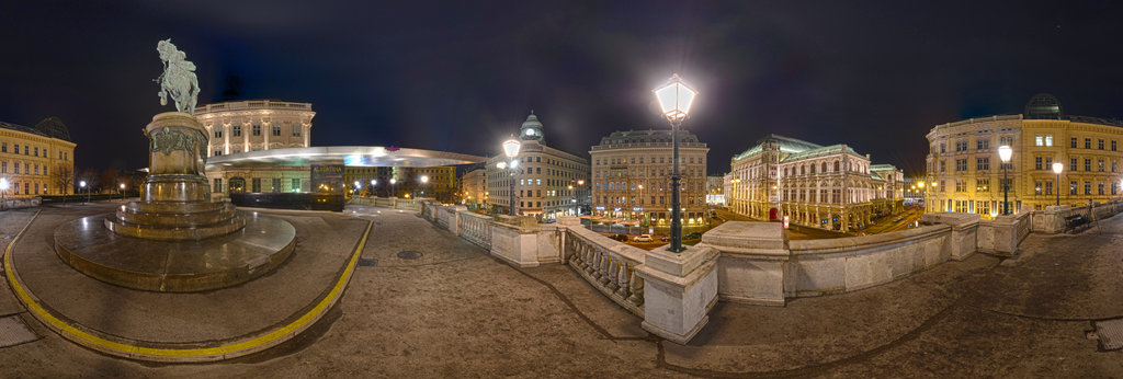 Albertina at night, HDRi 360 Panorama | 360Cities