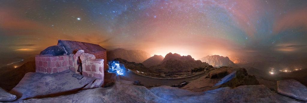 Midnight on the top of mt  Sinai, 360 Panorama | 360Cities