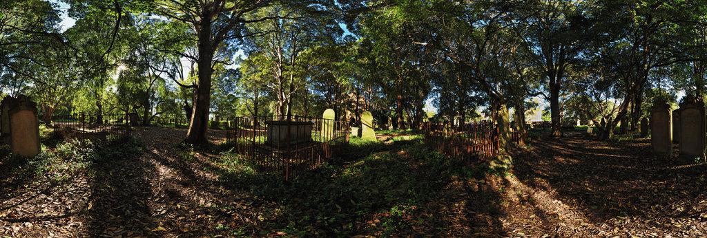 Historic Camperdown Cemetery & St Stephen's Church, Sydney by Edmund Blacket 360 Panorama