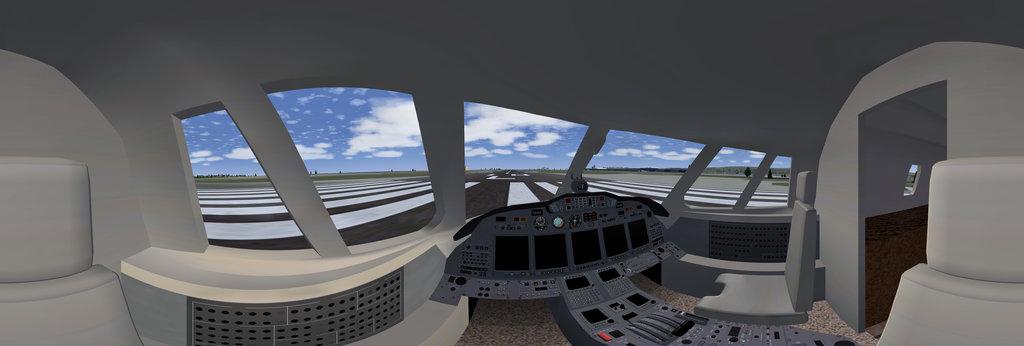 Cessna Citation X Cockpit 360 Panorama 360cities