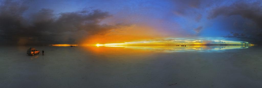 Salar De Uyuni At Sunset 360 Panorama 360cities