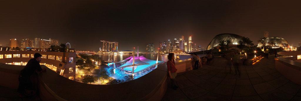 Singapore Esplanade Roof Top Garden 360 Panorama 360cities
