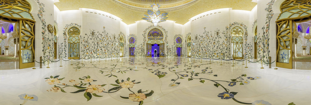 Sheikh Zayed Mosque Great Details In Architecture 360 Panorama 360cities